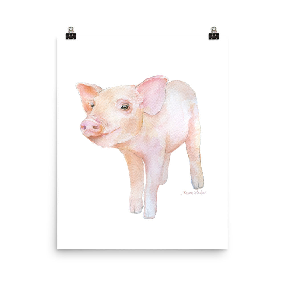 Pig 2 Watercolor