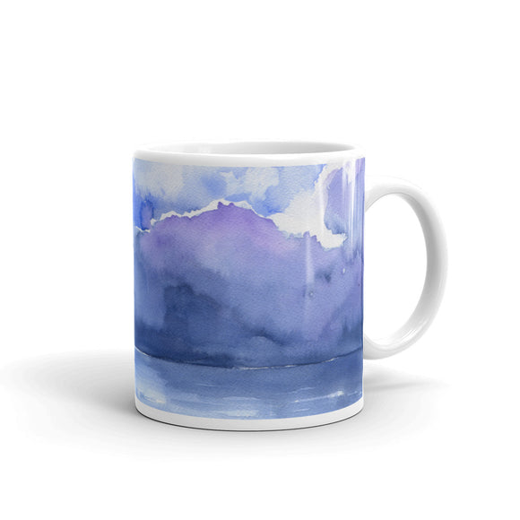 Abstract Ocean Watercolor Mug
