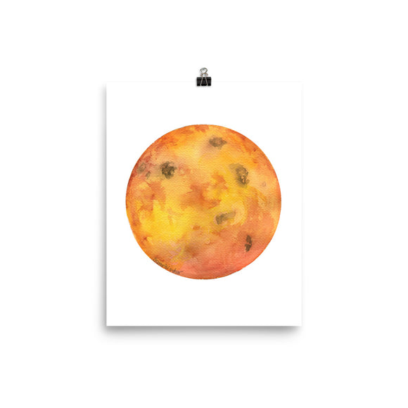 Venus Planet Watercolor art print
