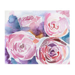 Abstract Peonies Throw Blanket