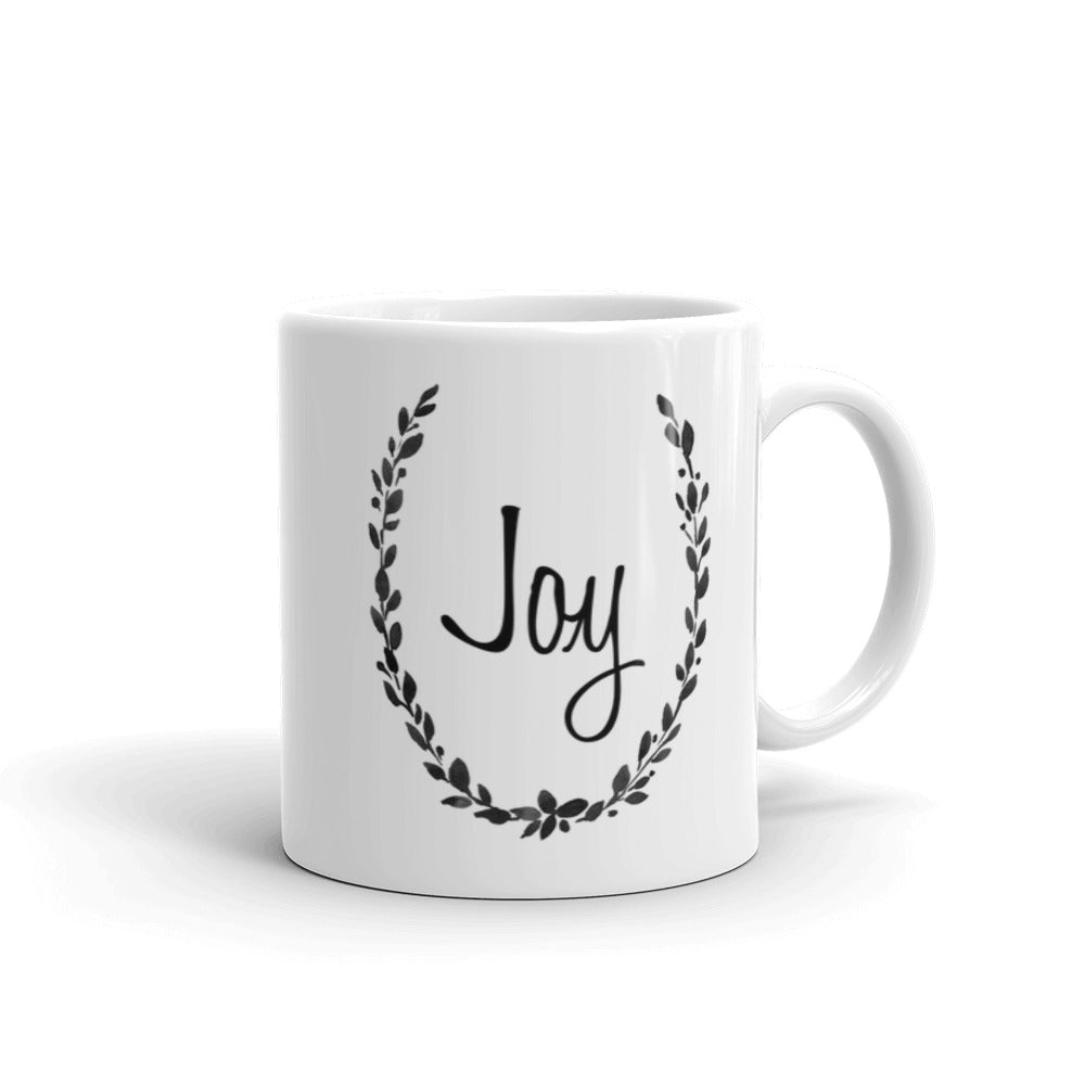 Joy Mug Black and White