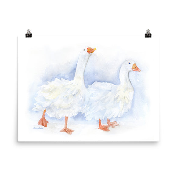 Geese Watercolor