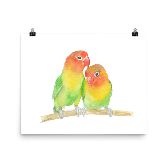 Love Birds watercolor art print