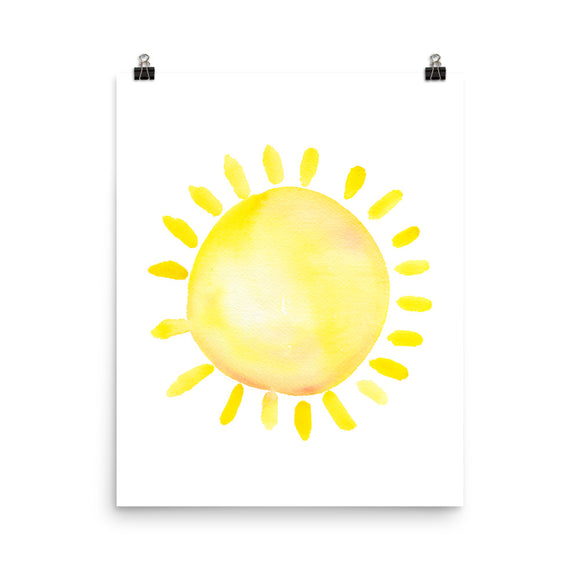 Sun Watercolor Art Print