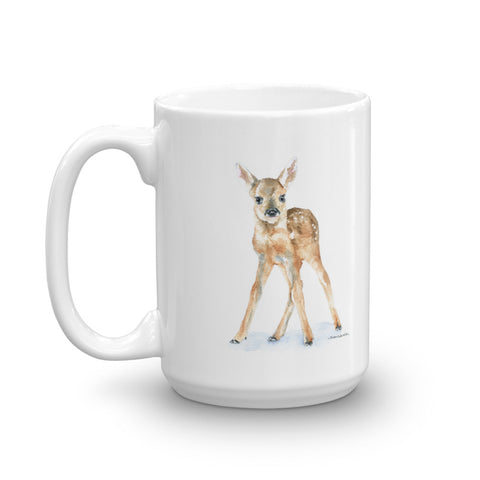 Deer Fawn Watercolor Coffee Mug
