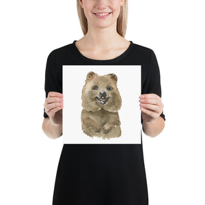Quokka Watercolor Print - Australian Animals