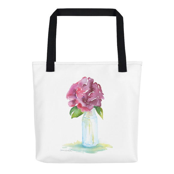 Rose in a Vase Tote Bag