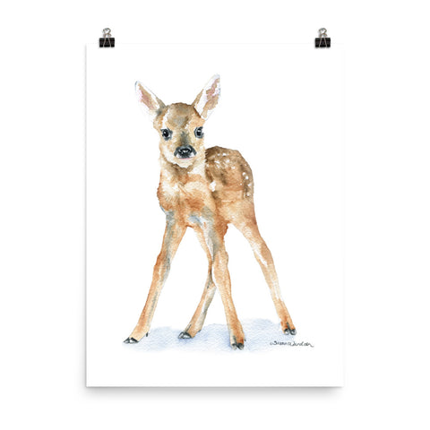 Deer Fawn Watercolor 1