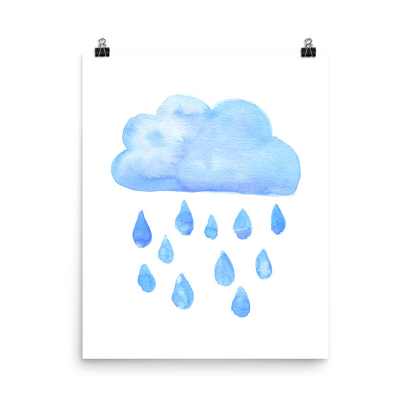 Rain Cloud Watercolor print