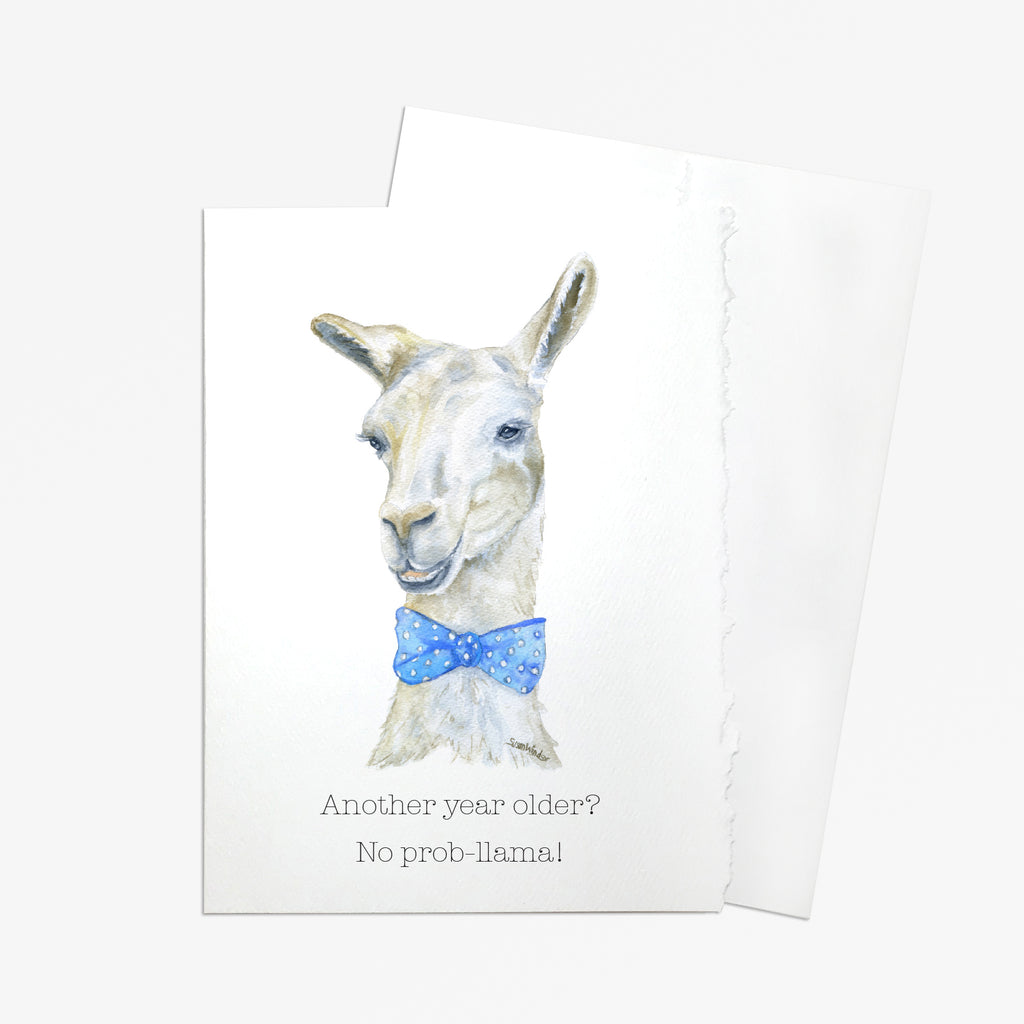 Another Year Older? No Prob-Llama Greeting Card