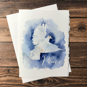 Christmas Cards Peace Dove Set of 10
