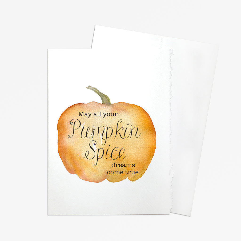 Pumpkin Spice Watercolor Greeting Card