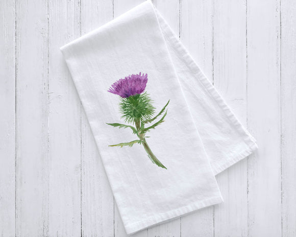 Scottish Thistle Tea Towel