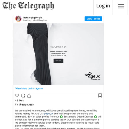 Georgia Hardinge's Age UK Campaign featured by The Telegraph