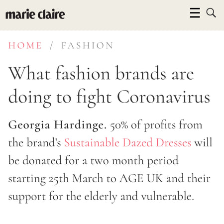Georgia Hardinge's Age UK Campaign featured by Marie Claire