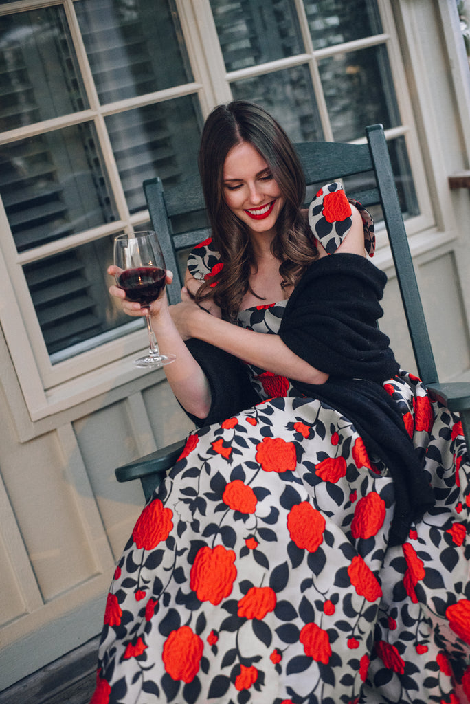 Alyssa Campanella wears her AW18 Willow Dress in Napa Valley