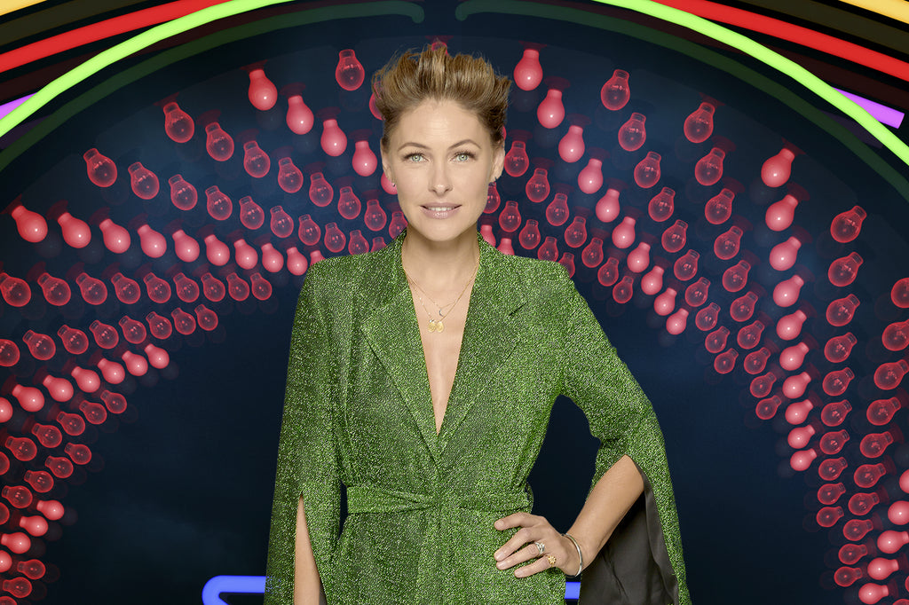 Emma Willis wears SS18 Palm Suit