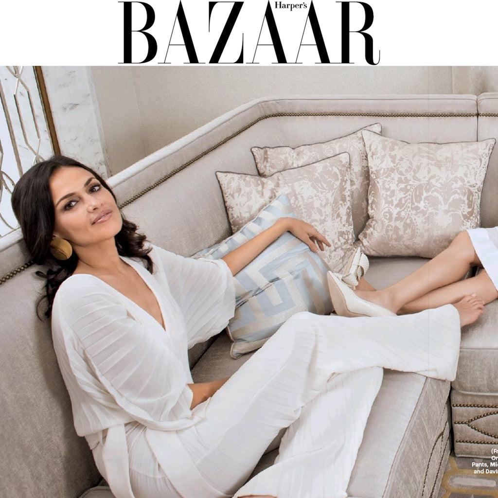 Tishani Doshi wears the SS18 Tropic Jumpsuit in Harpers Bazaar India Cover Story