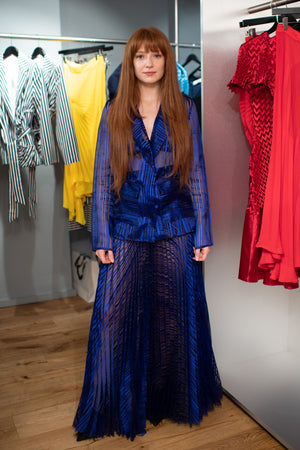 Nicola Roberts wears SS19 Linear Blazer & Skirt to Georgia Hardinge's Store Launch