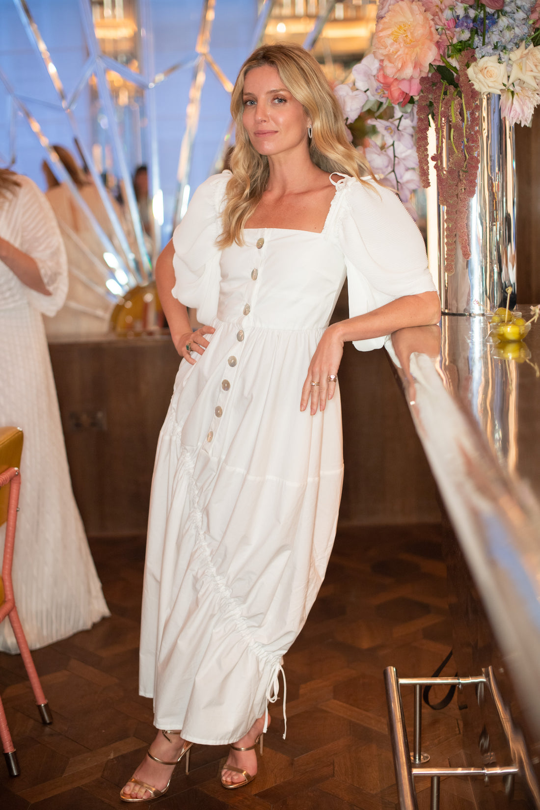 Annabelle Wallis wears SS19 Elena Dress to the Georgia Hardinge dinner at The Brasserie of Light