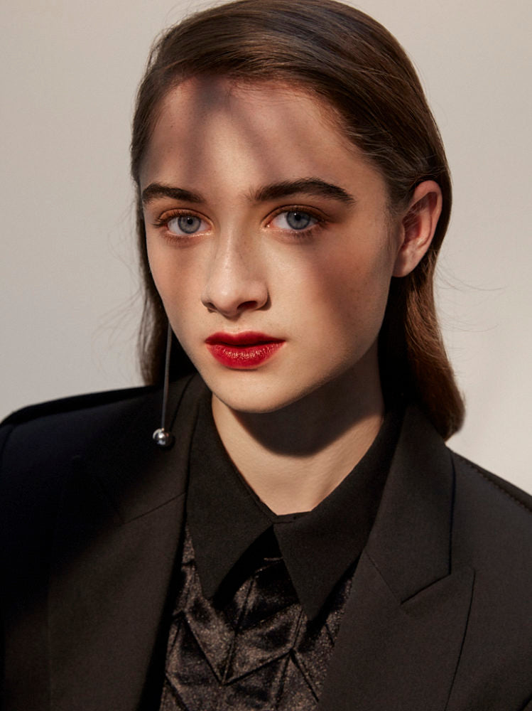 Raffey Cassidy wears AW17 Voltage Shirt for Interview Magazine