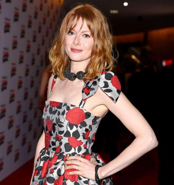 Emily Beecham wears Georgia Hardinge AW18 at the Empire Awards