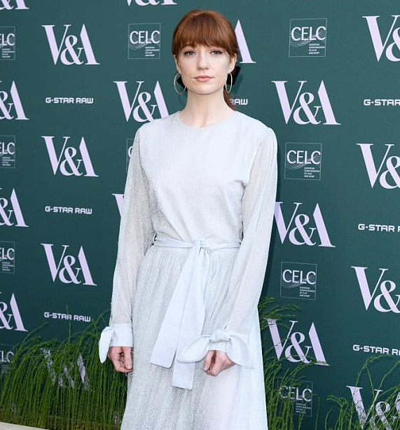 Nicola Roberts attends V&A Exhibition Launch in SS18 Jasmine Dress