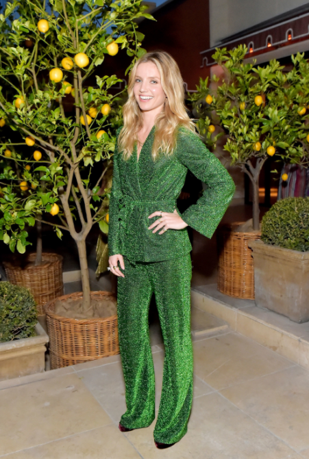Annabelle Wallis wears SS18 Palm Suit to dinner in LA