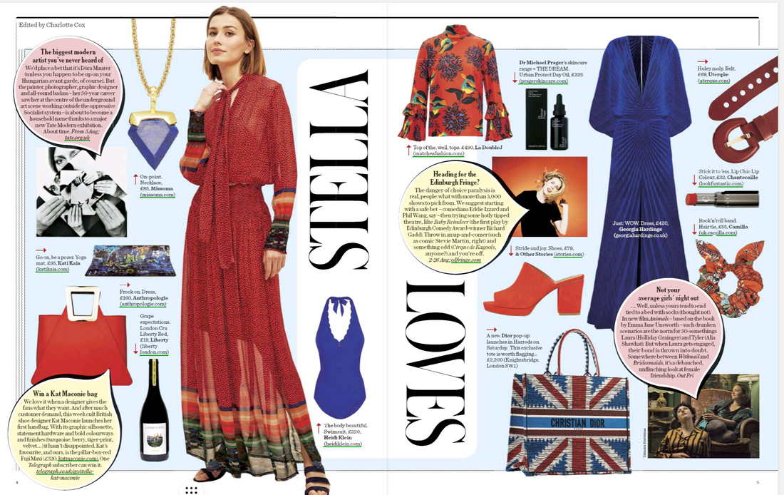 Stella Magazine feature SS19 Illusion Kaftan in Navy