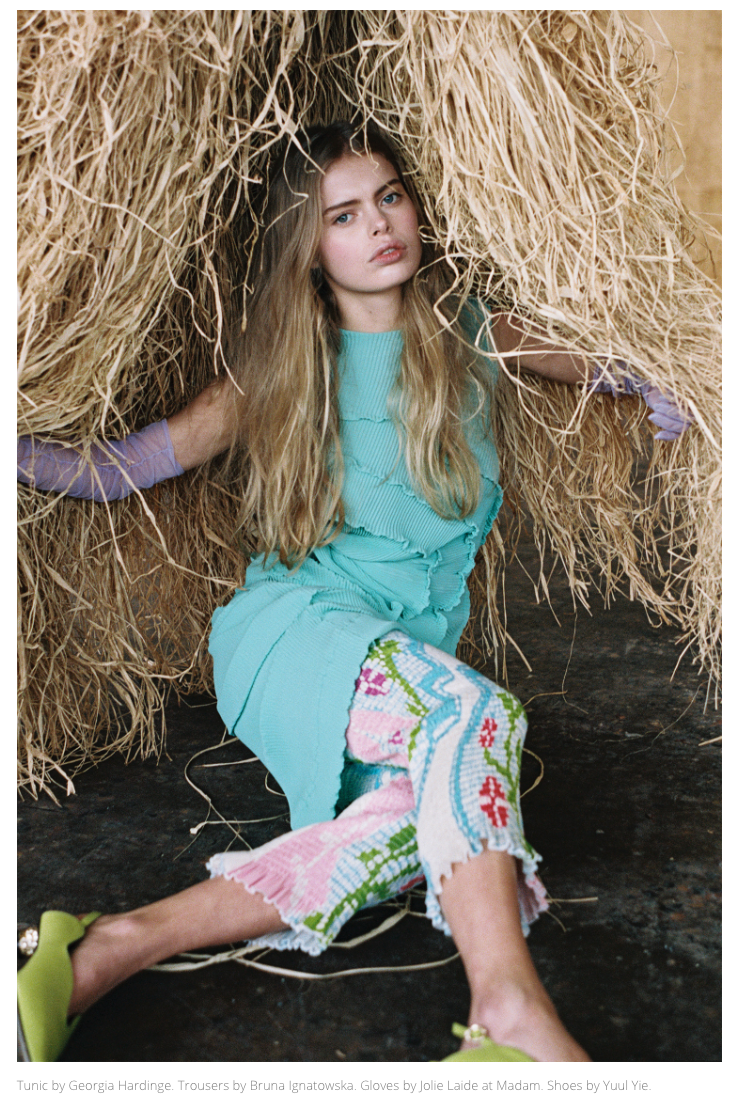 Factice Magazine feature SS20 Opal Mini Dress and Coralia Skirt