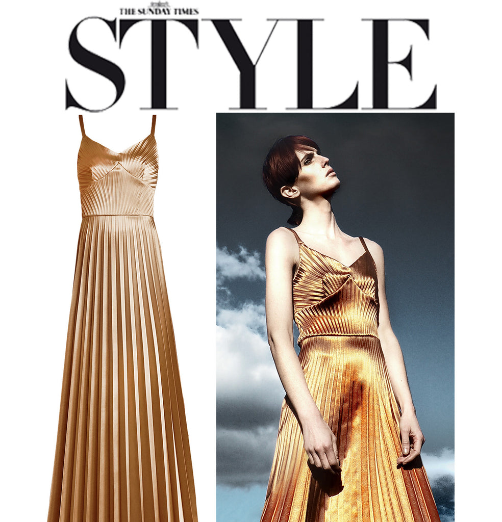 Sunday Times Style features Georgia Hardinge Mercury Dress