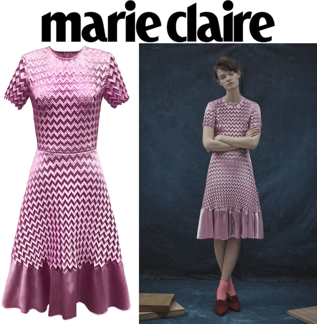 AW17 Electrum Dress on Marie Claire