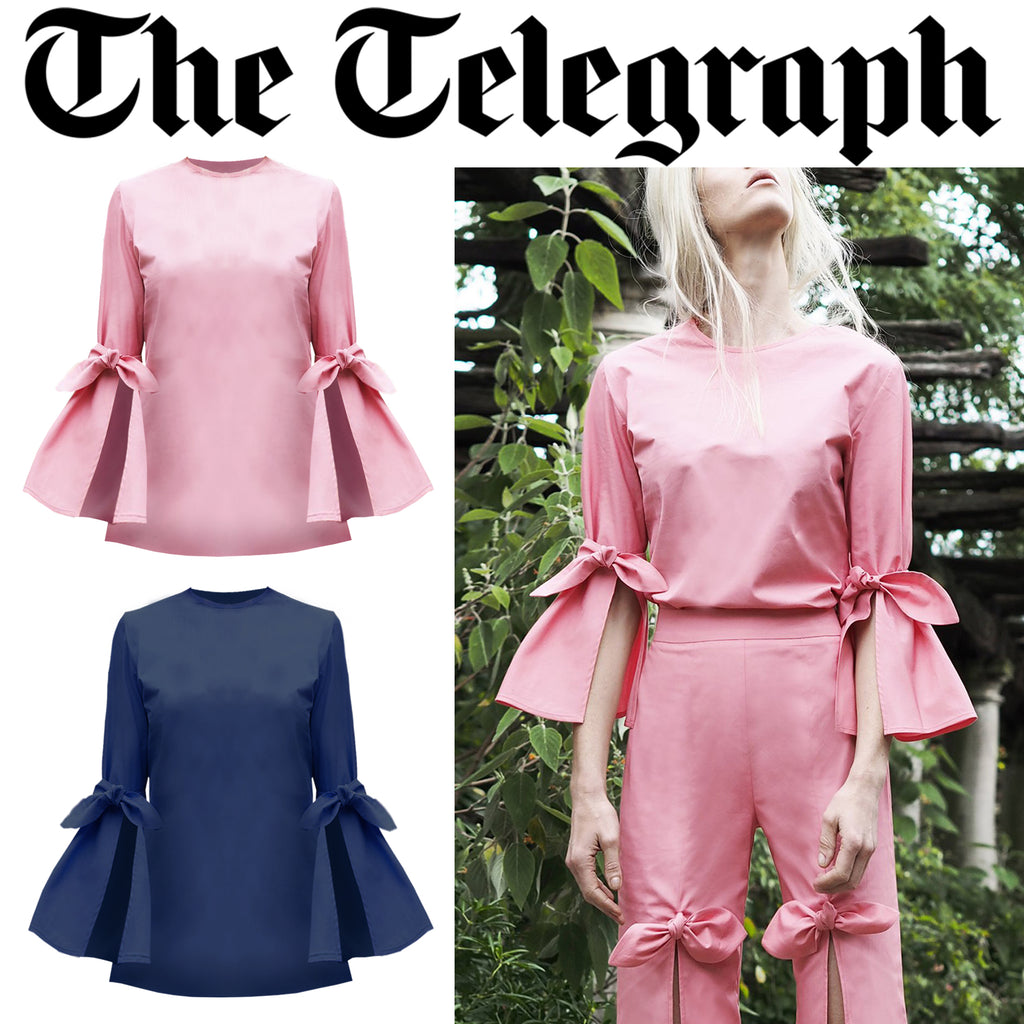 SS18 Palm Blouse featured by Telegraph.co.uk