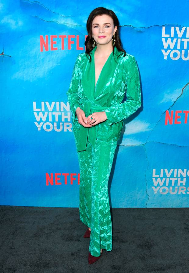 Aisling bea green suit
