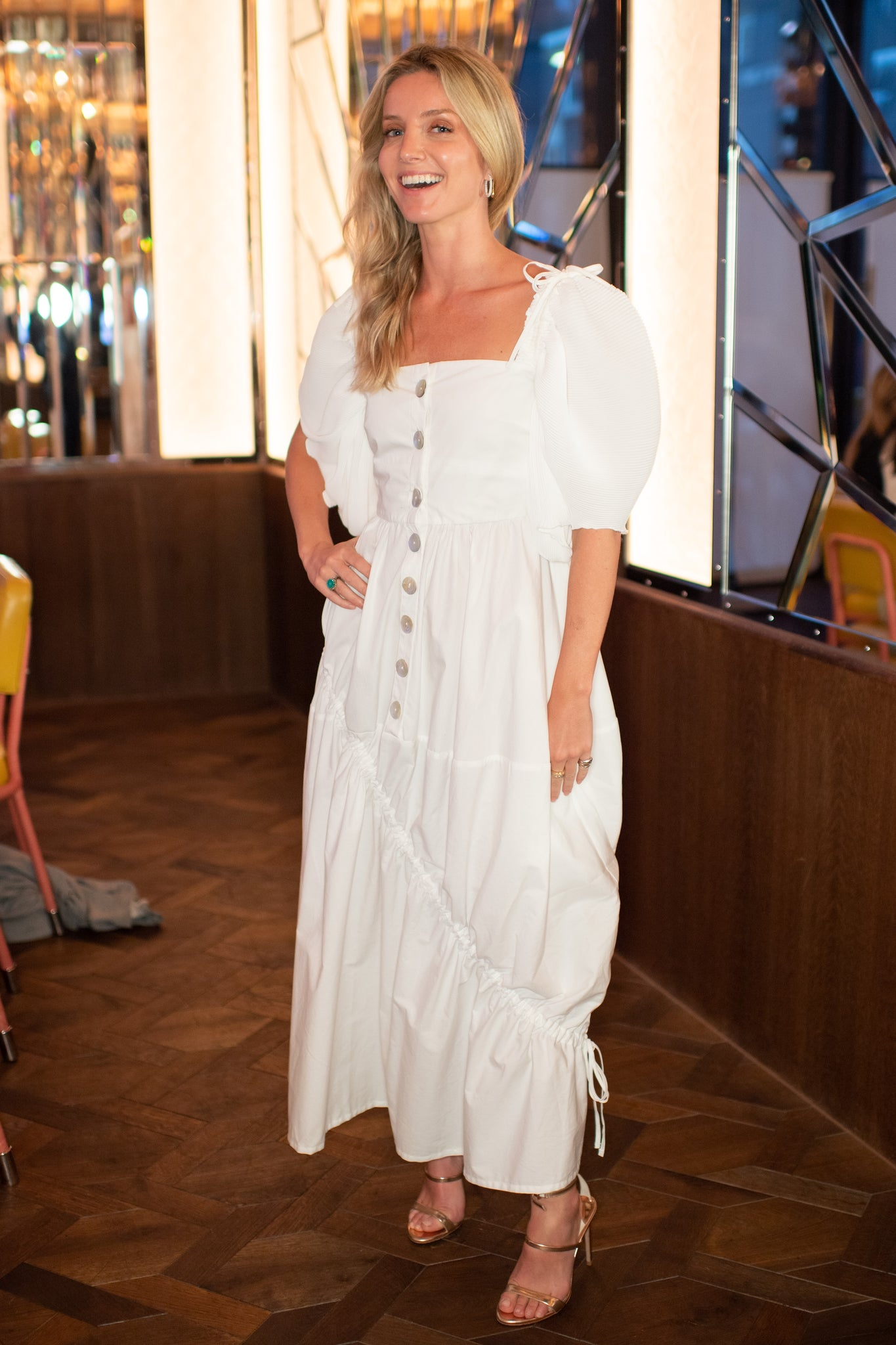 Annabelle Wallis white dress georgia hardinge