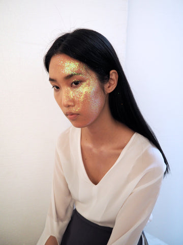 glitter face make up