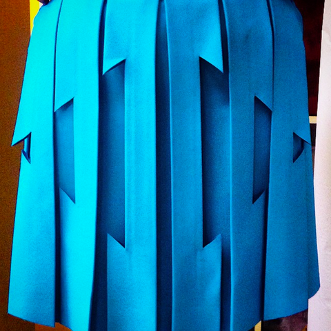 georgia hardinge paper sculpture pleat ss15