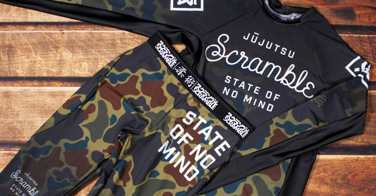 Scramble State of No Mind Camo Spats and Rashguard