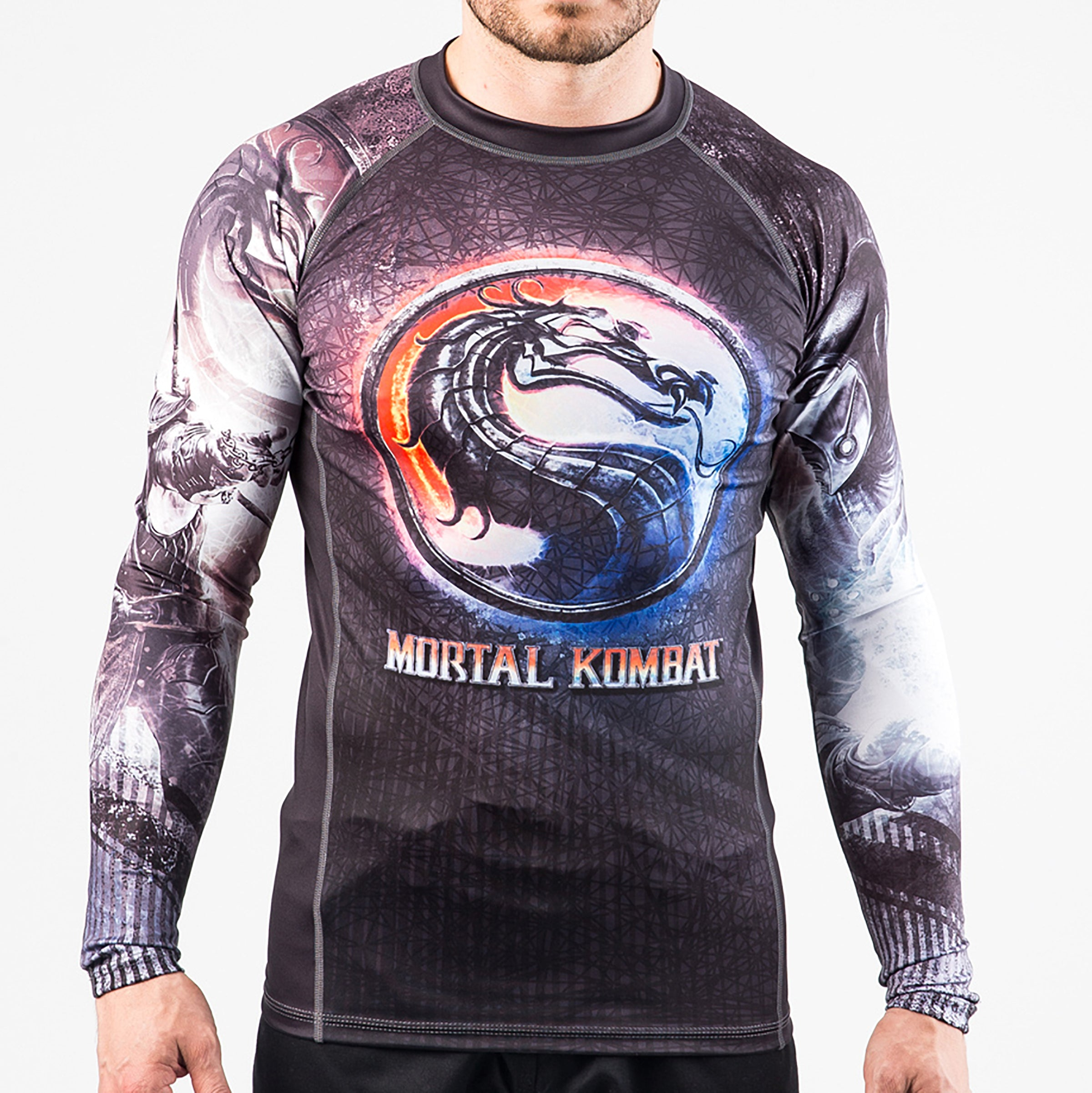 Image of Fusion Fight Gear Mortal Kombat Sub Zero vs Scorpion Rashguard