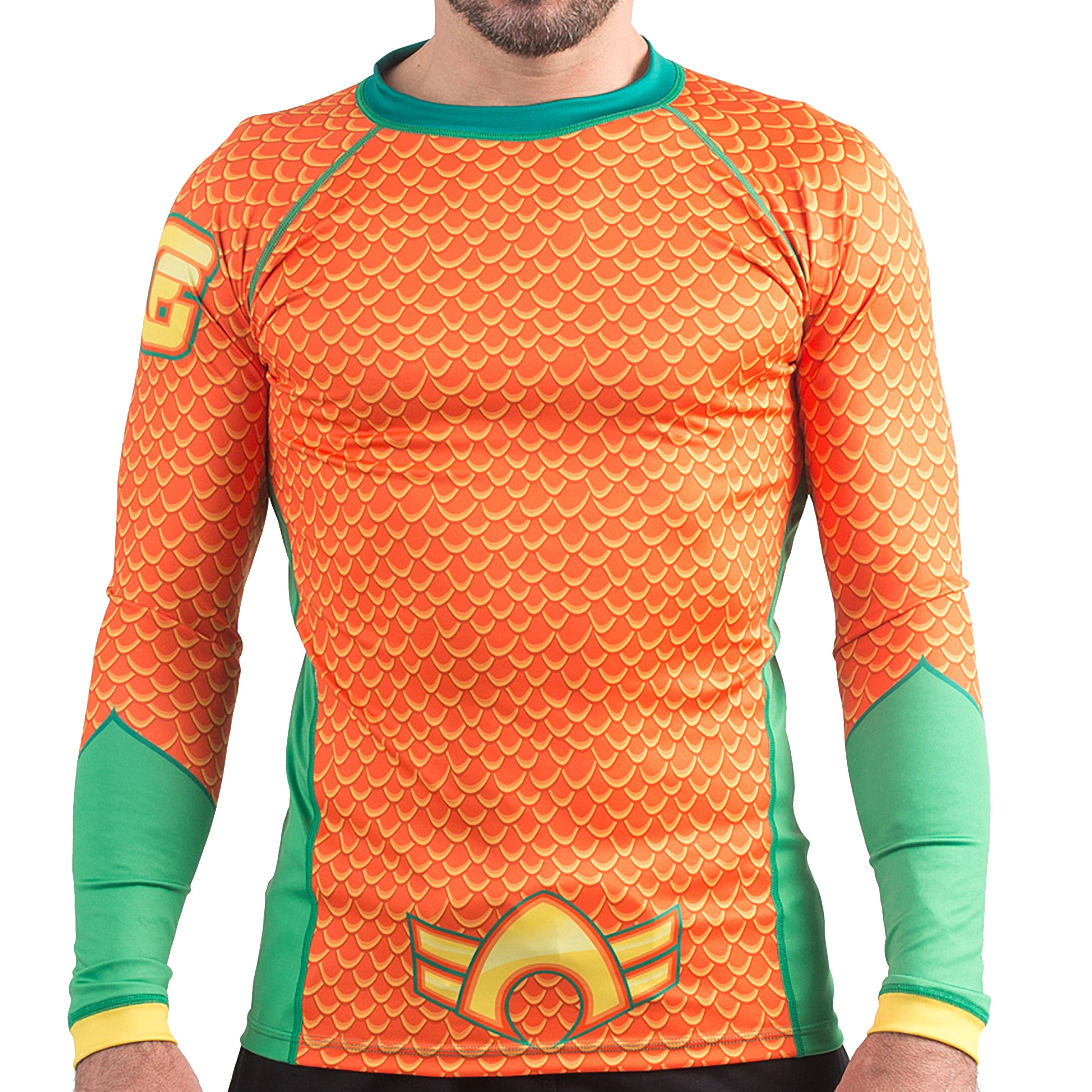 Image of Fusion Fight Gear Aquaman Costume Rashguard