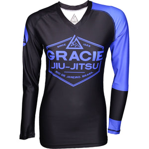 Gracie Jiu-Jitsu Womens Long Sleeve Ranked Rashguard Image