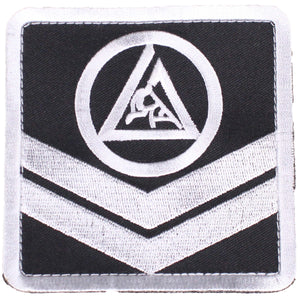 Gracie Jiu-Jitsu Chevron 4x4 Patch Image