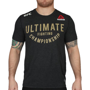Black Heathered-Champion Gold