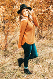 Never To Late Chestnut Knitted Sweater