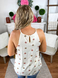 Simply Swiss Dot Ivory Tank Top