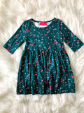 Cleo Pleated Green Holly Dress-Baby-Toddler