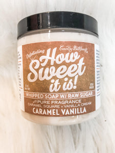 Whipped Soap With Raw Sugar Cain