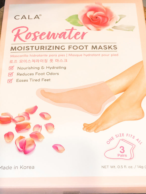 Rose Water Moisturizing Foot Mask