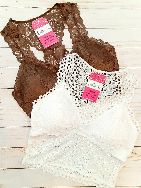 Lovely Lace Padded Bralette