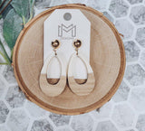 Ingred Teardrop Wood Earrings-2 Colors